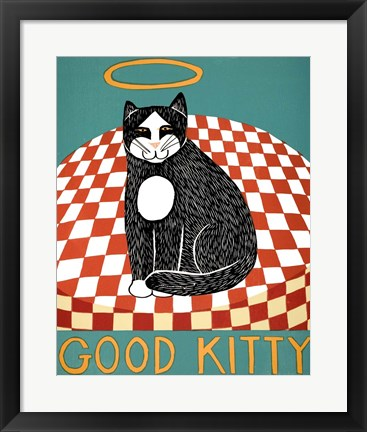 Framed Good Kitty Print