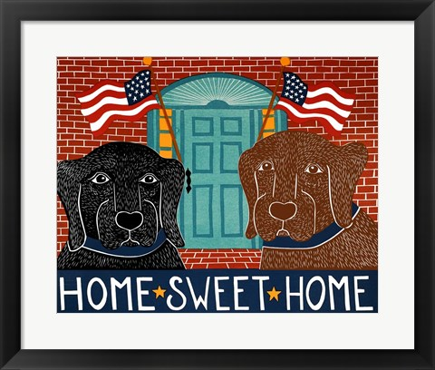 Framed Home Sweet Home Black Choc Print