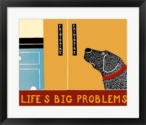 Framed Life's Big Problems Banner Print