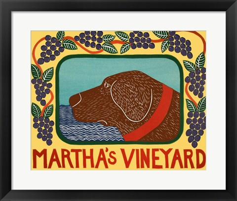 Framed Marthas Vineyard Choc Print