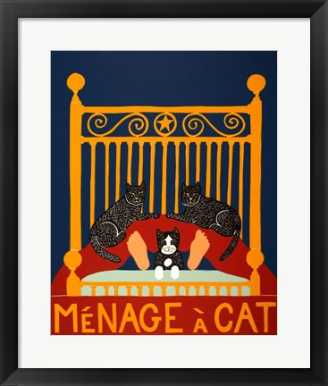 Framed Menage A Cat Print