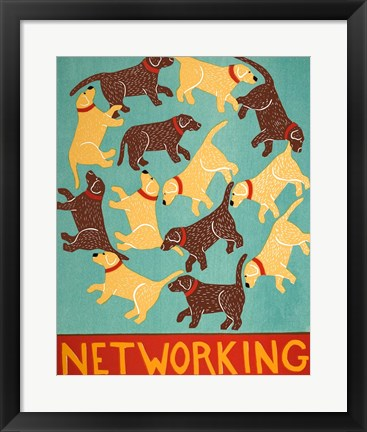 Framed Networking Choc Print