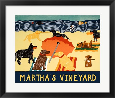 Framed Ocean Ave Martha's Vineyard Print