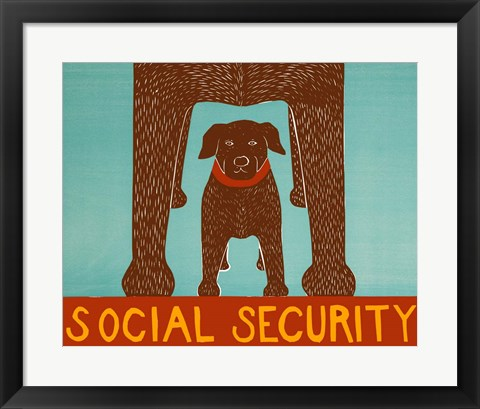 Framed Social Security Choc Print