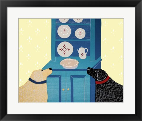 Framed We Are Lucky Dogs Print