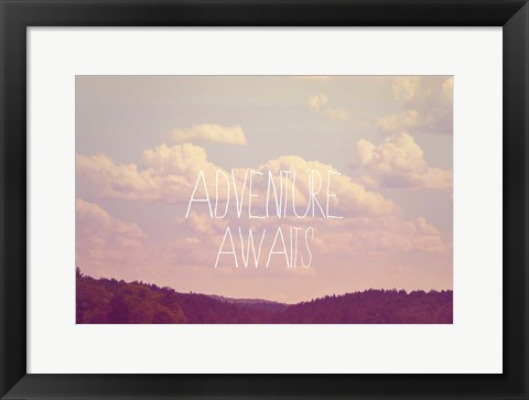 Framed Adventure Awaits I Print