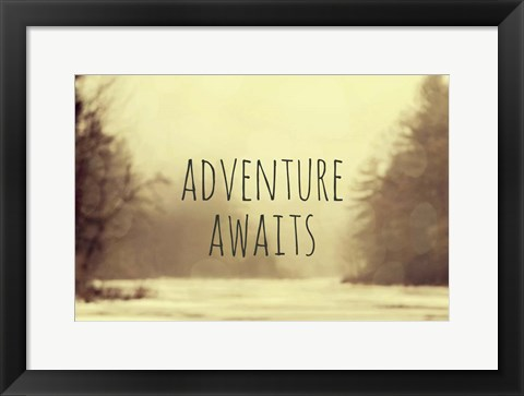 Framed Adventure Awaits II Print