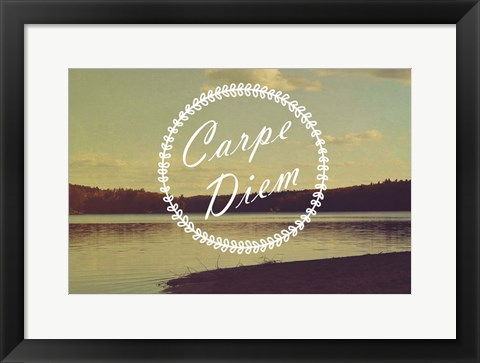 Framed Carpe Diem Print
