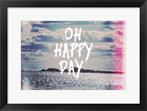 Framed Oh Happy Day Print