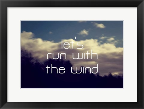 Framed Run With The Wind Print