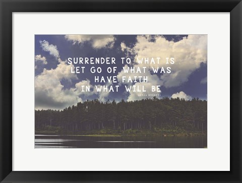 Framed Surrender Print