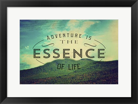 Framed Essence Of Life Print