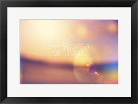 Framed Wonder Print
