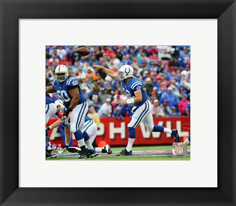 Framed Andrew Luck 2015 Action Print