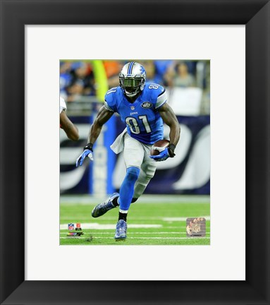 Framed Calvin Johnson 2015 Action Print