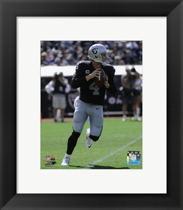 Framed Derek Carr 2015 Action Print
