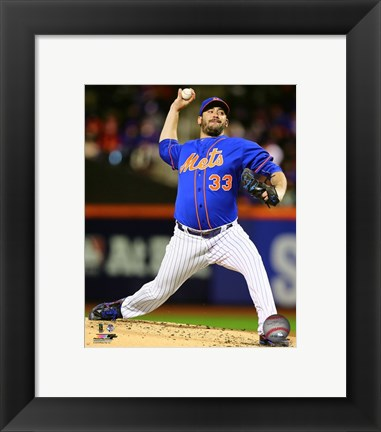 Framed Matt Harvey Game 1 of the 2015 National League Championship Series Print