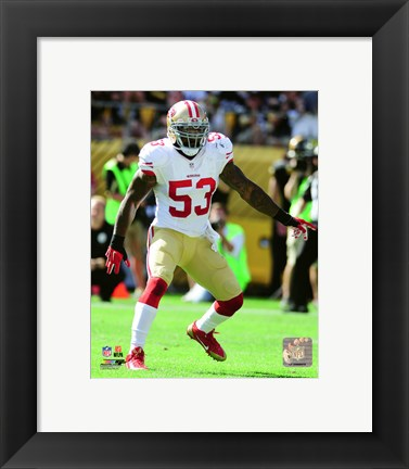 Framed NaVorro Bowman 2015 Action Print