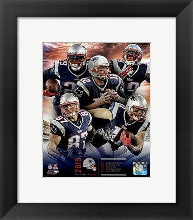 Framed New England Patriots 2015 Team Composite Print