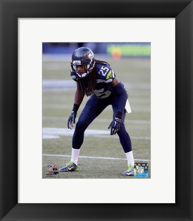 Framed Richard Sherman 2015 Action Print