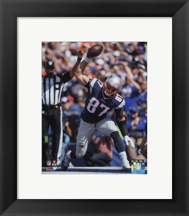 Framed Rob Gronkowski 2015 Action Print
