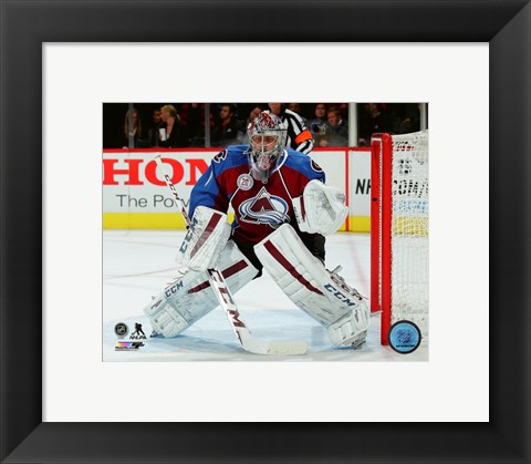 Framed Semyon Varlamov 2015-16 Action Print