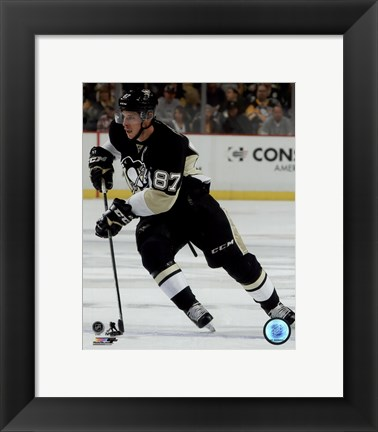Framed Sidney Crosby 2015-16 Action Print