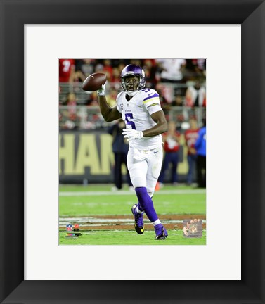 Framed Teddy Bridgewater 2015 Action Print