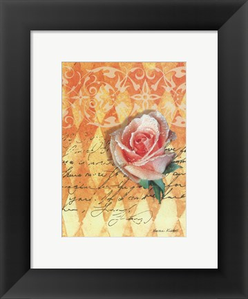 Framed Blush Rose Print