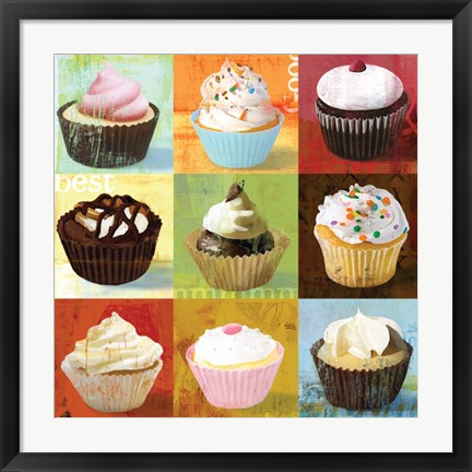 Framed Cupcake 9-Patch Print