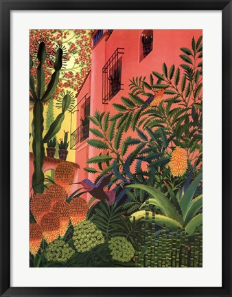 Framed Humming In Paradise Print
