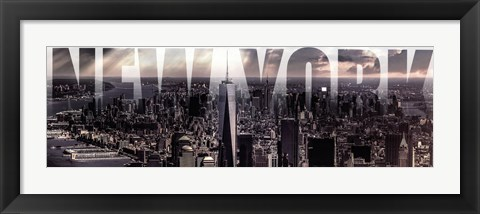 Framed New York - Under Clouds Print