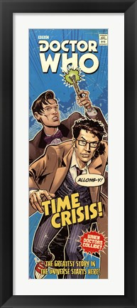 Framed Doctor Who - Time Crisis Comic Code Print