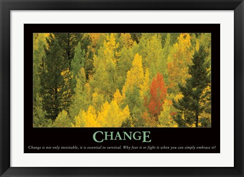 Framed Change Print