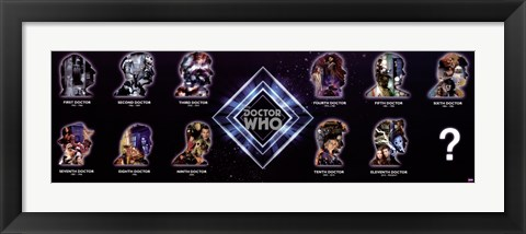 Framed Doctor Who - Silhouettes Print