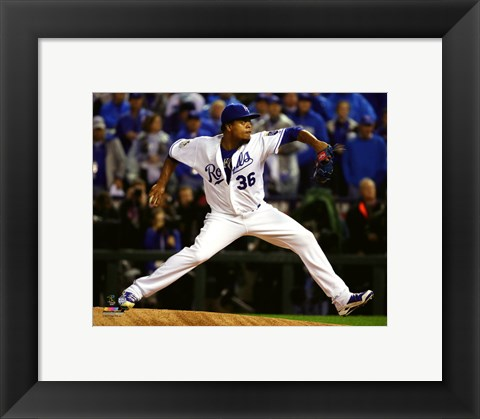 Framed Edinson Volquez Game 1 of the 2015 World Series Print