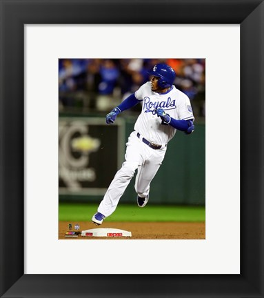 Framed Alcides Escobar Inside the park Home Run Game 1 of the 2015 World Series Print