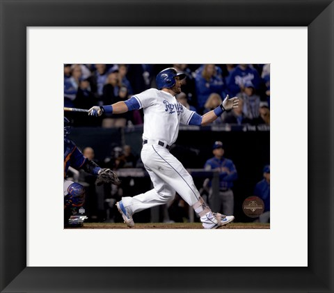 Framed Alex Gordon Home Run Game 1 of the 2015 World Series Print