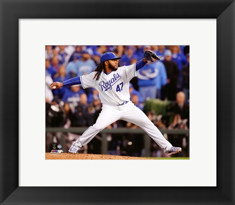 Framed Johnny Cueto Game 2 of the 2015 World Series Print