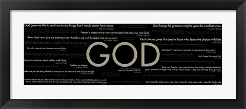 Framed God - Quotes Print