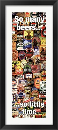 Framed So Many Beers Print
