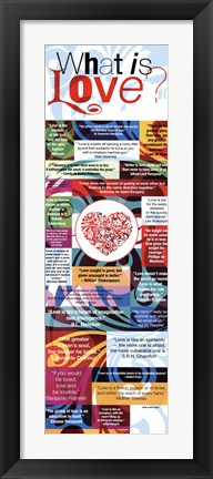 Framed What is Love? Print
