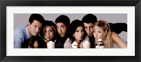 Framed Friends - Milkshakes Print