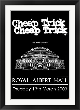 Framed Cheap Trick - Royal Albert Hall Print