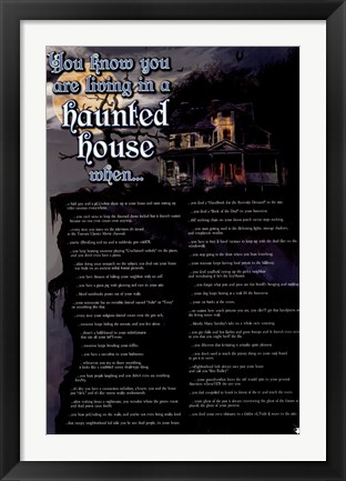 Framed Haunted House Print