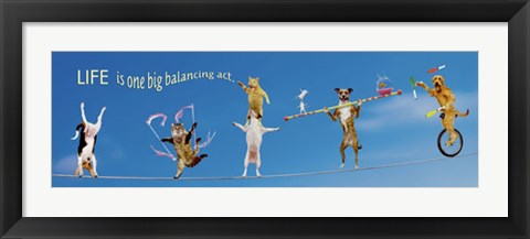 Framed High Wire Menagerie Print
