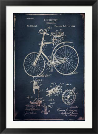 Framed Velocipede I Print