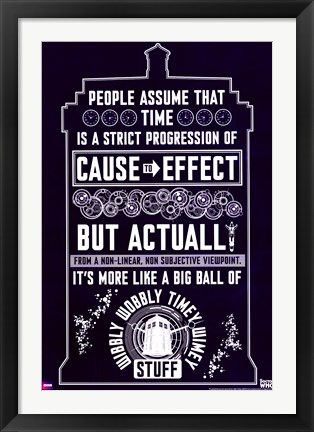 Framed Doctor Who - Wibbly Wobbly Quote Print