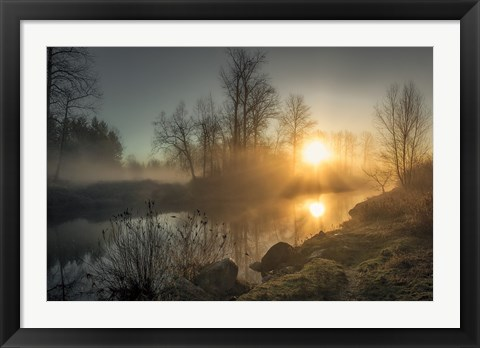 Framed New Day Pitt Meadow Print