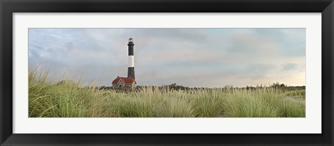 Framed Island Lighthouse No. 1 Print